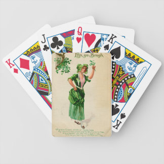 Original Saint patrick's day lady in green Bicycle Playing Cards