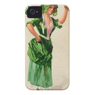 Original Saint patrick's day lady in green Case-Mate iPhone 4 Case
