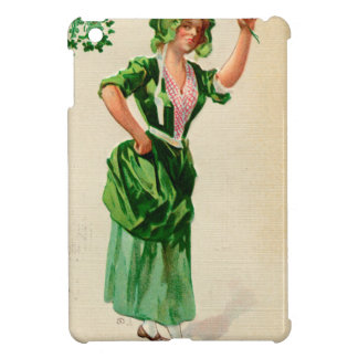 Original Saint patrick's day lady in green Cover For The iPad Mini