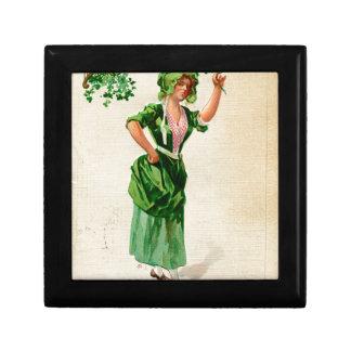 Original Saint patrick's day lady in green Gift Box