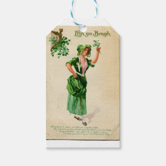 Original Saint patrick's day lady in green Gift Tags