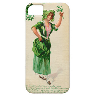 Original Saint patrick's day lady in green iPhone 5 Covers