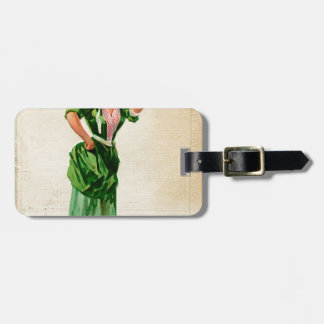 Original Saint patrick's day lady in green Luggage Tag