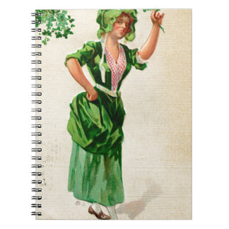 Original Saint patrick's day lady in green Notebook