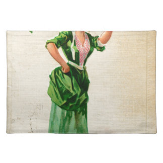 Original Saint patrick's day lady in green Placemat