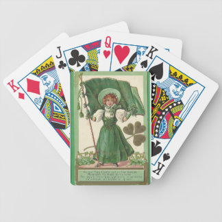 Original Saint patrick's day lady vintage poster Bicycle Playing Cards