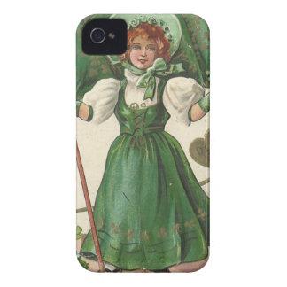 Original Saint patrick's day lady vintage poster Case-Mate iPhone 4 Cases