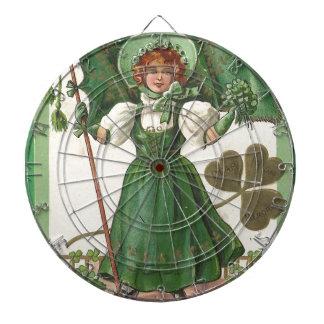 Original Saint patrick's day lady vintage poster Dartboards