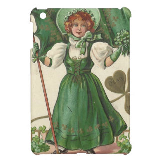 Original Saint patrick's day lady vintage poster iPad Mini Cover
