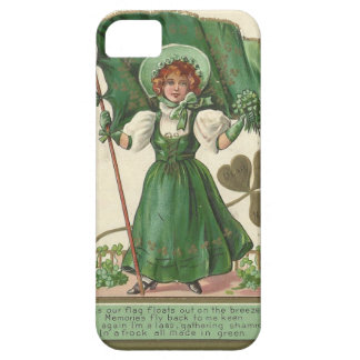 Original Saint patrick's day lady vintage poster iPhone 5 Case