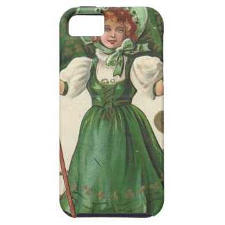 Original Saint patrick's day lady vintage poster iPhone 5 Cases