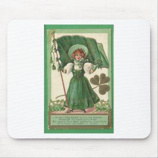 Original Saint patrick's day lady vintage poster Mouse Pad
