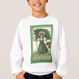 Original Saint patrick's day lady vintage poster Sweatshirt