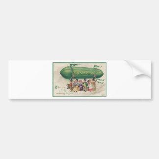Original Saint Patrick's day vintage shamrock Bumper Sticker
