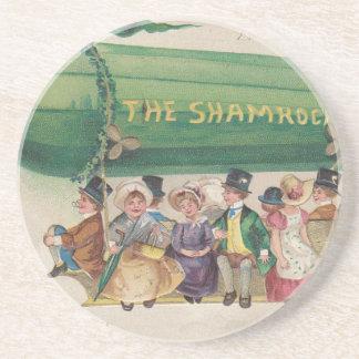 Original Saint Patrick's day vintage shamrock Coasters