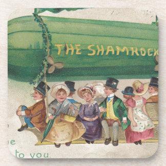 Original Saint Patrick's day vintage shamrock Drink Coaster