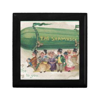 Original Saint Patrick's day vintage shamrock Gift Box