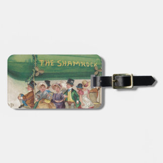 Original Saint Patrick's day vintage shamrock Luggage Tag