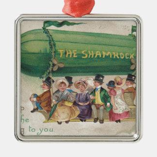 Original Saint Patrick's day vintage shamrock Metal Ornament