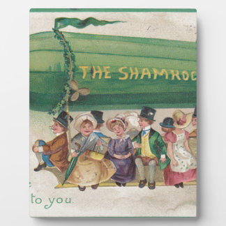 Original Saint Patrick's day vintage shamrock Plaque