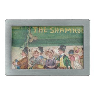 Original Saint Patrick's day vintage shamrock Rectangular Belt Buckles