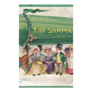 Original Saint Patrick's day vintage shamrock Stationery