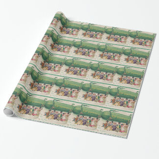 Original Saint Patrick's day vintage shamrock Wrapping Paper