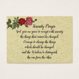 Original Serenity Prayer Holy Card