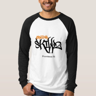 Original Skillz Long Sleeve (Black/Orange Logo) T-Shirt