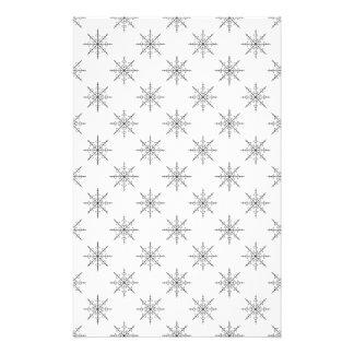 Original Snowflake Pattern Custom Stationery