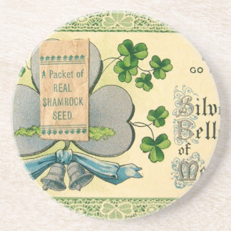 Original St Patrick's day vintage irish draw Drink Coaster