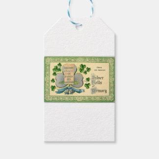 Original St Patrick's day vintage irish draw Gift Tags