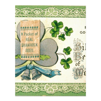 Original St Patrick's day vintage irish draw Letterhead