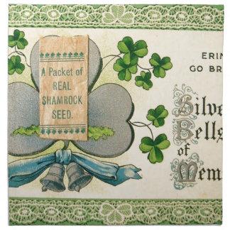 Original St Patrick's day vintage irish draw Napkin