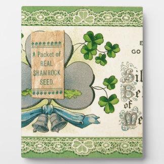 Original St Patrick's day vintage irish draw Plaque