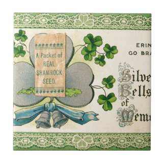 Original St Patrick's day vintage irish draw Tile