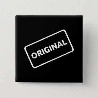 Original Stamp 2 Inch Square Button