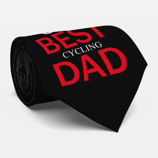 Original text design BEST CYCLING DAD Father's Day Tie