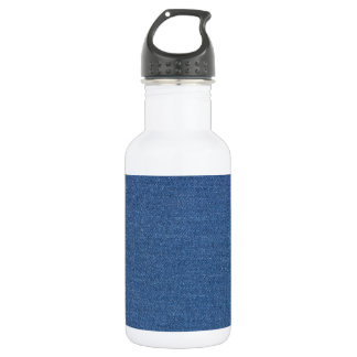 Original textile fabric blue fashion jean denim 532 ml water bottle