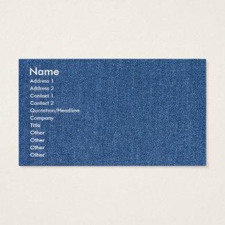 Original textile fabric blue fashion jean denim business card