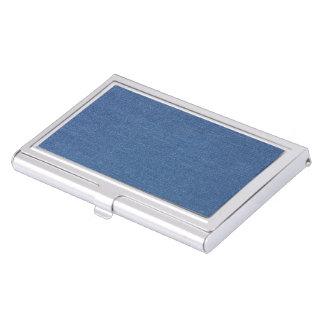 Original textile fabric blue fashion jean denim business card holder