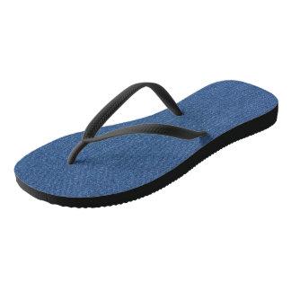 Original textile fabric blue fashion jean denim flip flops