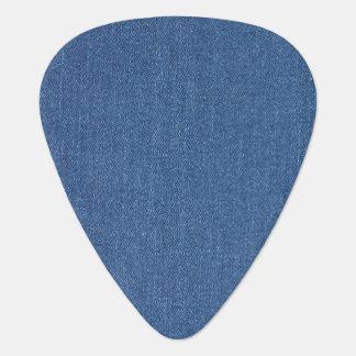Original textile fabric blue fashion jean denim guitar pick