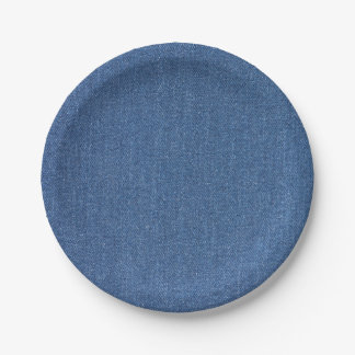 Original textile fabric blue fashion jean denim paper plate