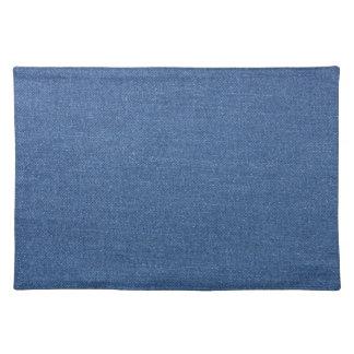 Original textile fabric blue fashion jean denim placemat