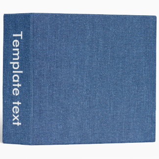 Original textile fabric blue fashion jean denim vinyl binders