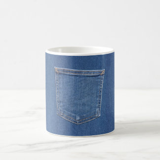Original textile fabric blue fashion jeans pocket coffee mug