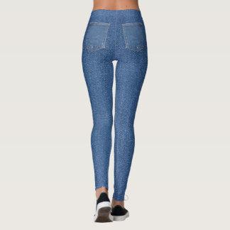 Original textile fabric blue fashion jeans pocket leggings