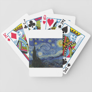 Original the starry night paint bicycle playing cards