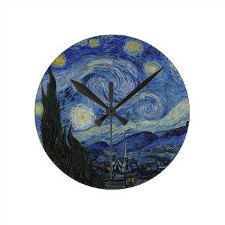 Original the starry night paint clocks